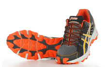 Asics Men's Gel Fujitrabuco titanium orange black